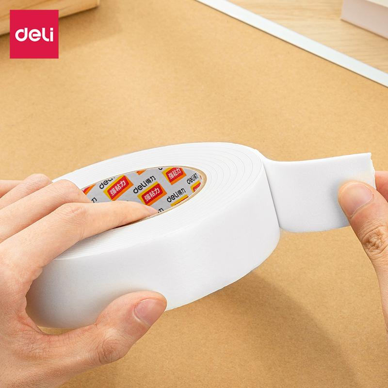 得力 30416 EVA泡棉双面胶带 36mmx5y 1卷/袋 (单位:袋) 白