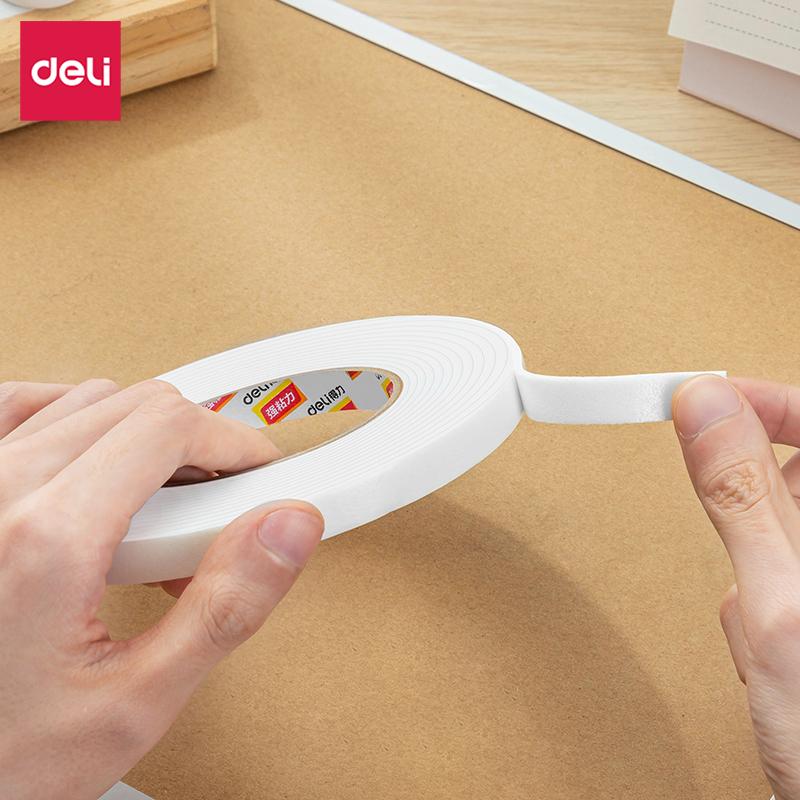得力 30410 EVA泡棉双面胶带 12mmx5y袋装 1卷/袋 (单位:袋) 白
