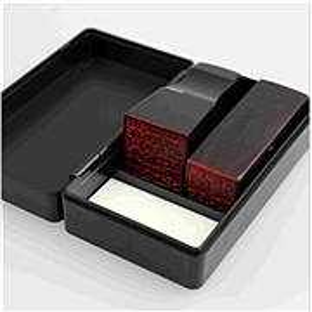 得力9898财务印章盒(黑)(只)