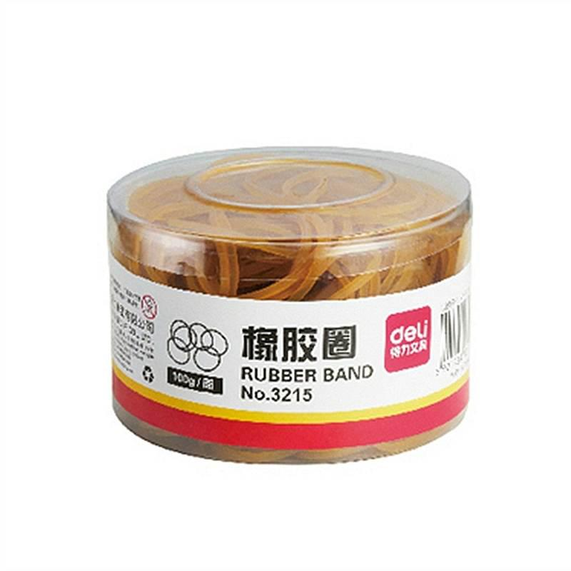 得力3215橡胶圈(黄)(100g/筒)(筒)