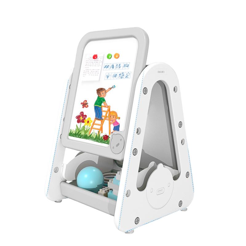 得力50141可升降双面塑料儿童画板660*535mm(灰色)(块)