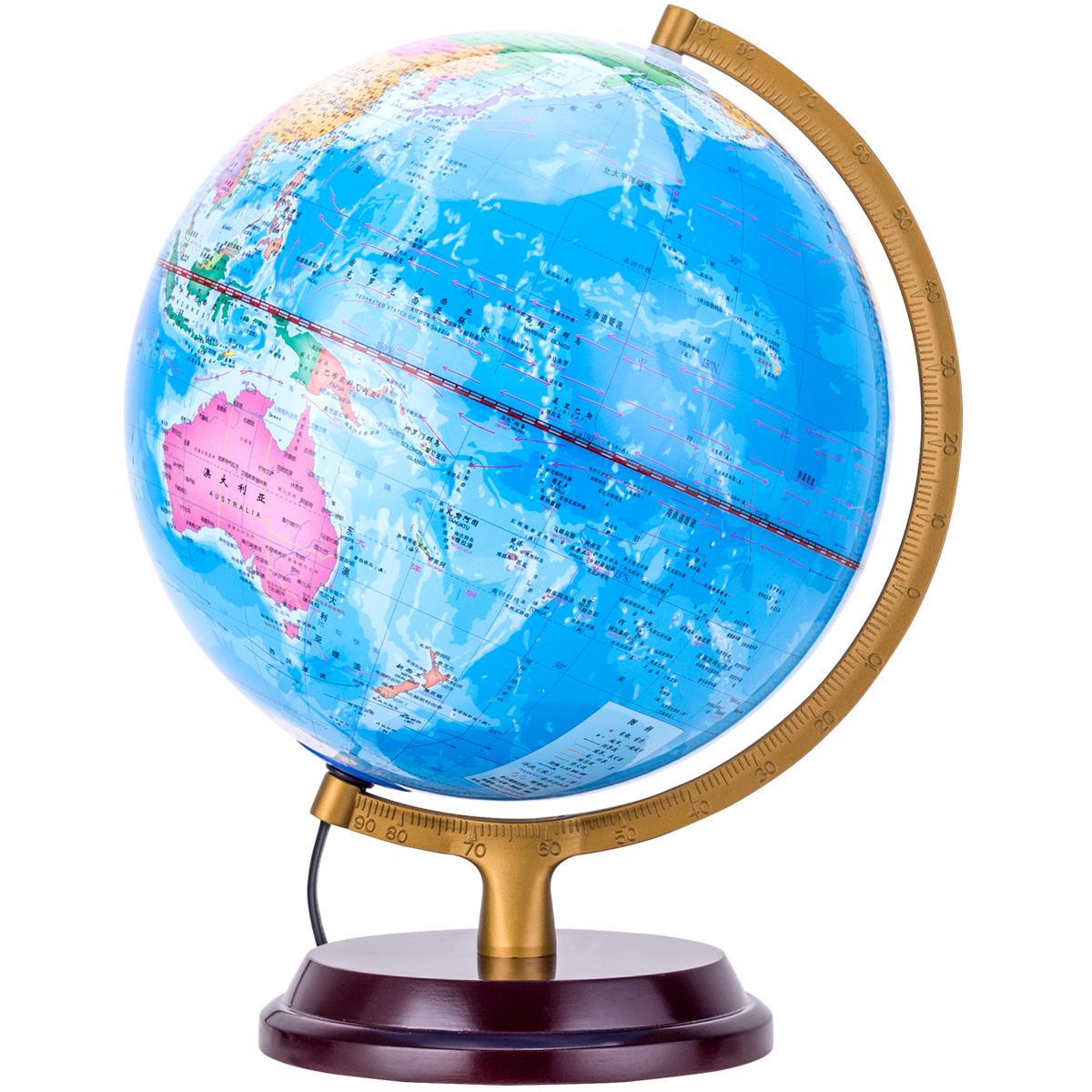 得力 3037 地球仪 25cm (单位:台) 彩色