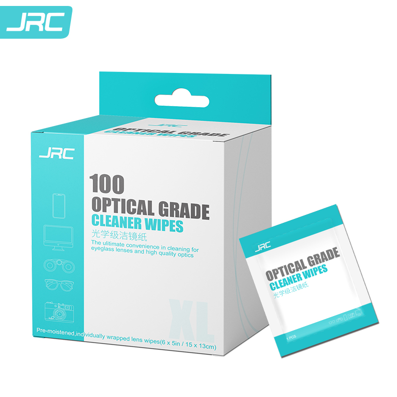 JRC光学级洁镜纸100片装屏幕清洁湿巾清香型(盒)
