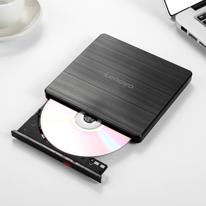 联想GP70N外置DVD刻录机8倍速USB2.0外置光驱兼容Windows/苹果MAC系统黑色(个)
