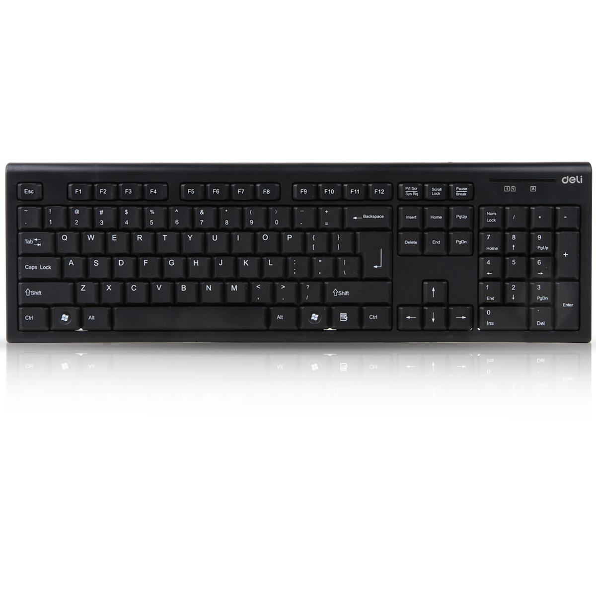 得力3728无线键鼠套装键盘(黑色)(套)