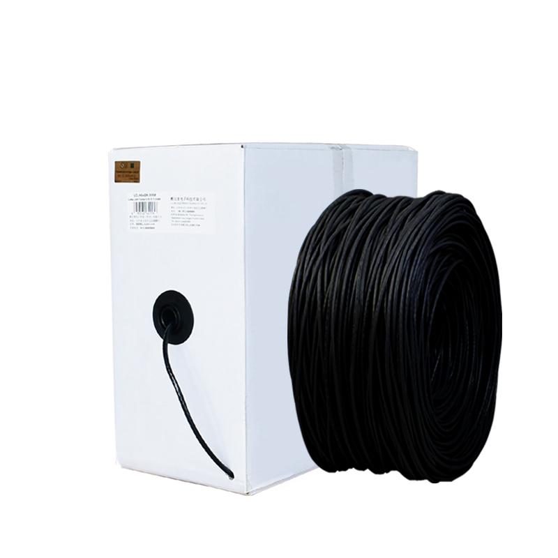 酷比客 LCLN6RRBK-ZRLSZH 六类 阻燃 低烟无卤非屏蔽纯铜成箱网线/黑色/305M(单位:箱)