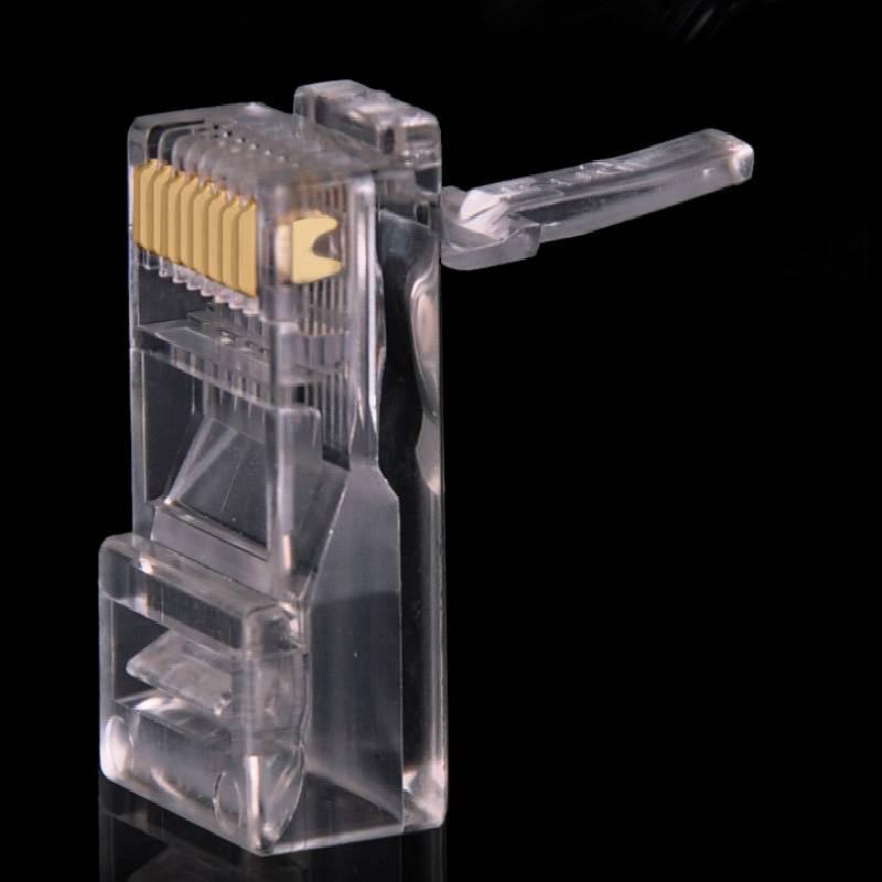 雷赢 RJ45网线水晶头 白色100个/包(单位:包)