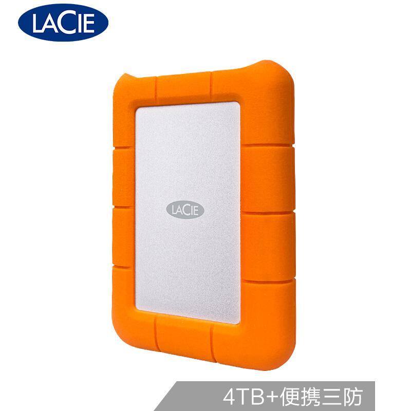 LaCie 4TB Type-C/USB3.1 移动硬盘 Rugged 2.5英寸 STFR4000800 (个)
