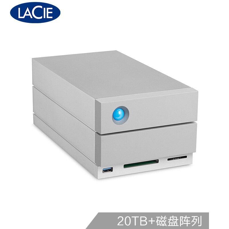 LaCie 20TB Type-C/雷电3 USB3.1 DP端口 USB3.0 CF卡槽 SD卡槽 磁盘阵列 2big Dock 存储坞站 STGB20000400 (个)