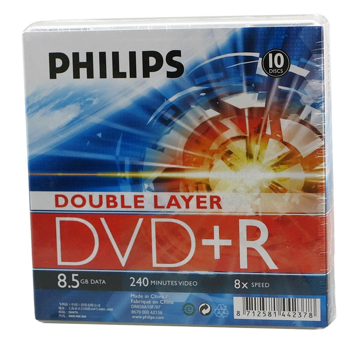 飞利浦 8.5GB 光盘 10片(单位:盒)