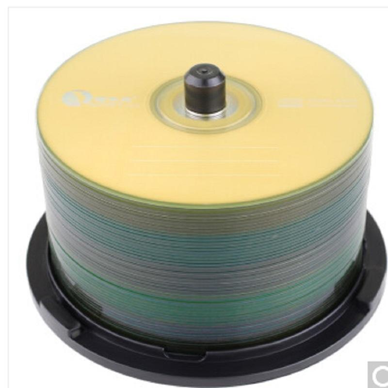啄木鸟ZMN/CD-R/52速700M五彩系列桶装50片刻录盘(单位:盒)