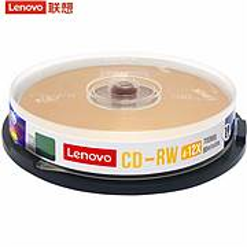 联想CD-RW光盘4-12速700MB 台产档案系列可擦写桶装10片(桶)