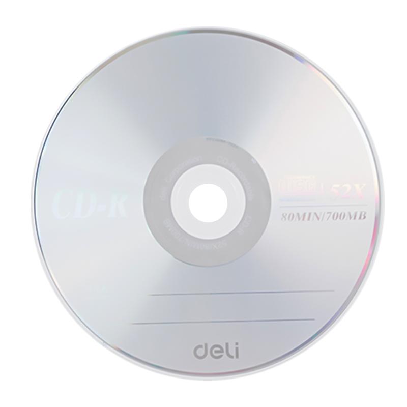 得力 3725-CD-R 刻录光盘 50片/筒(单位:筒)雾银