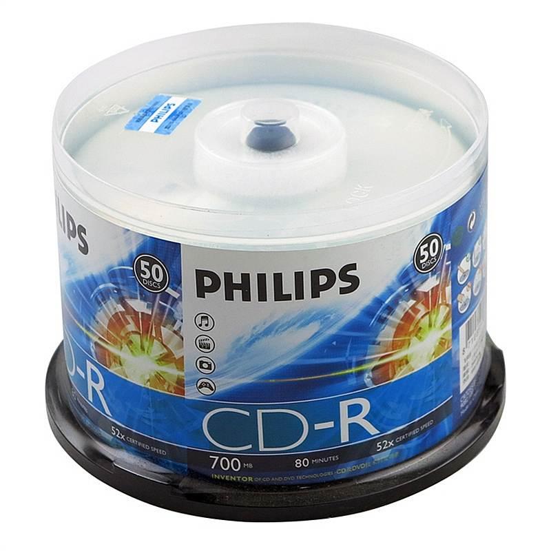 飞利浦 CD-R 52速 700M 光盘 50片(单位:筒)