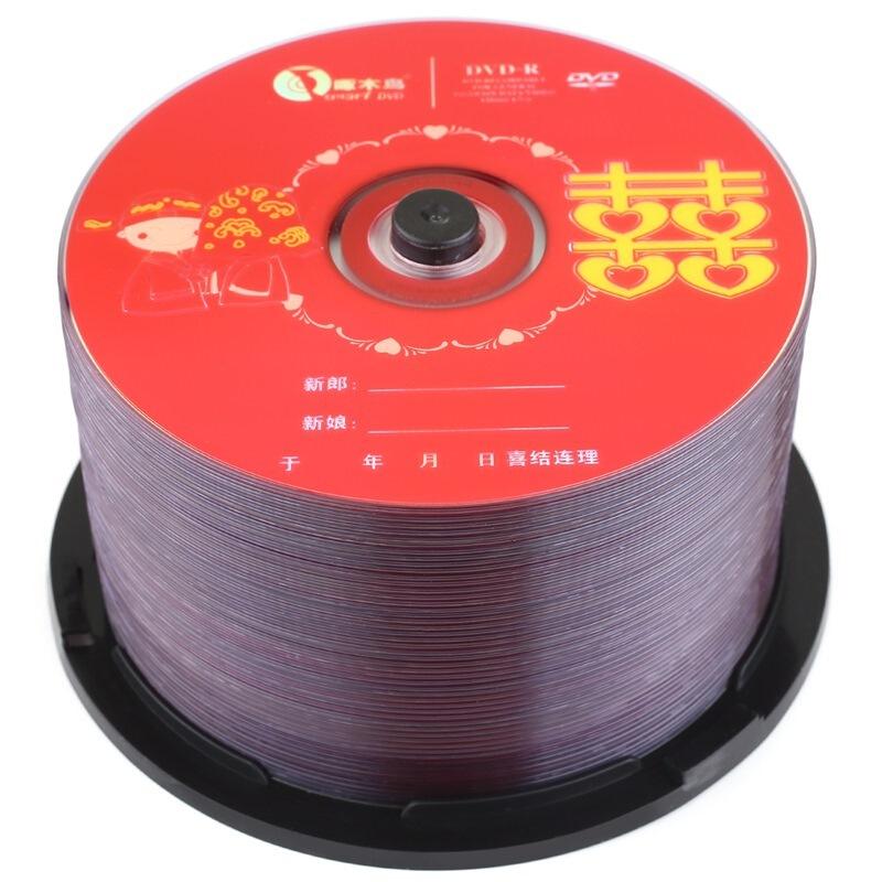 啄木鸟/ZMN DVD-R16速 4.7G婚庆系列 刻录盘桶装50片(组)