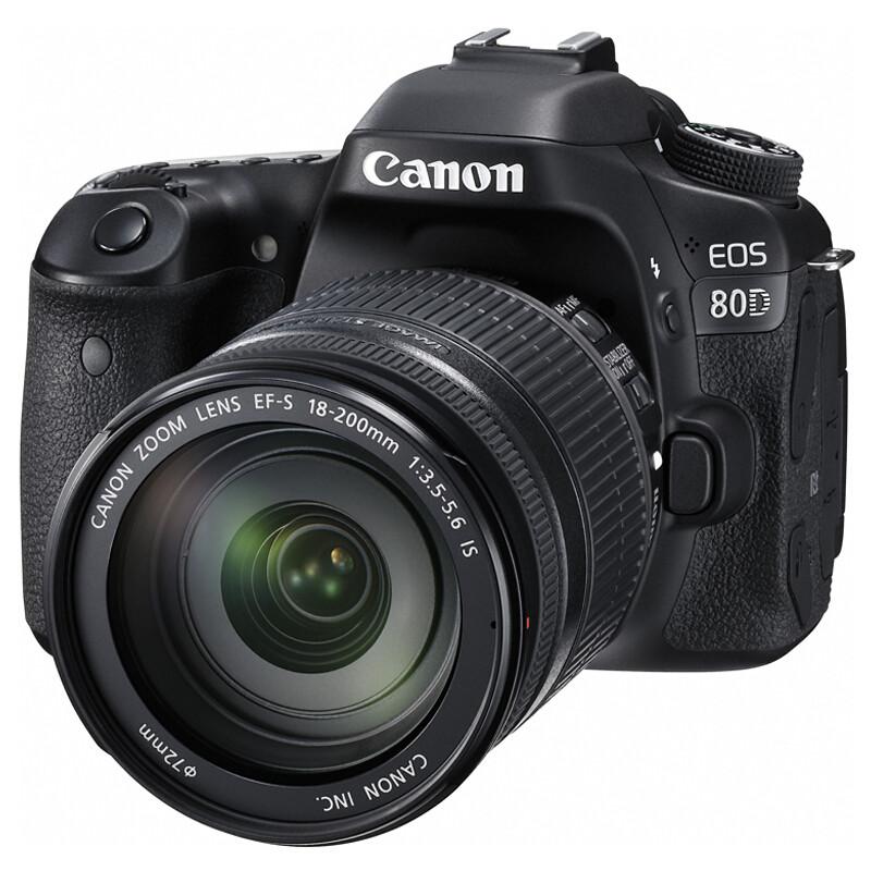 佳能 EOS80D (18-200镜头)单反相机含16G内存卡及清洁套装 (单位:套)