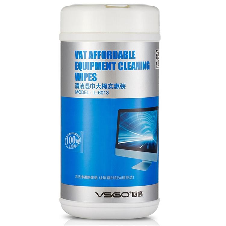 威高 L-6013 清洁湿巾 13x16cm(单位:桶)  白色