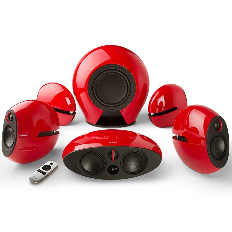 漫步者 E255 全数字解码5.1音响系统红色(套)
