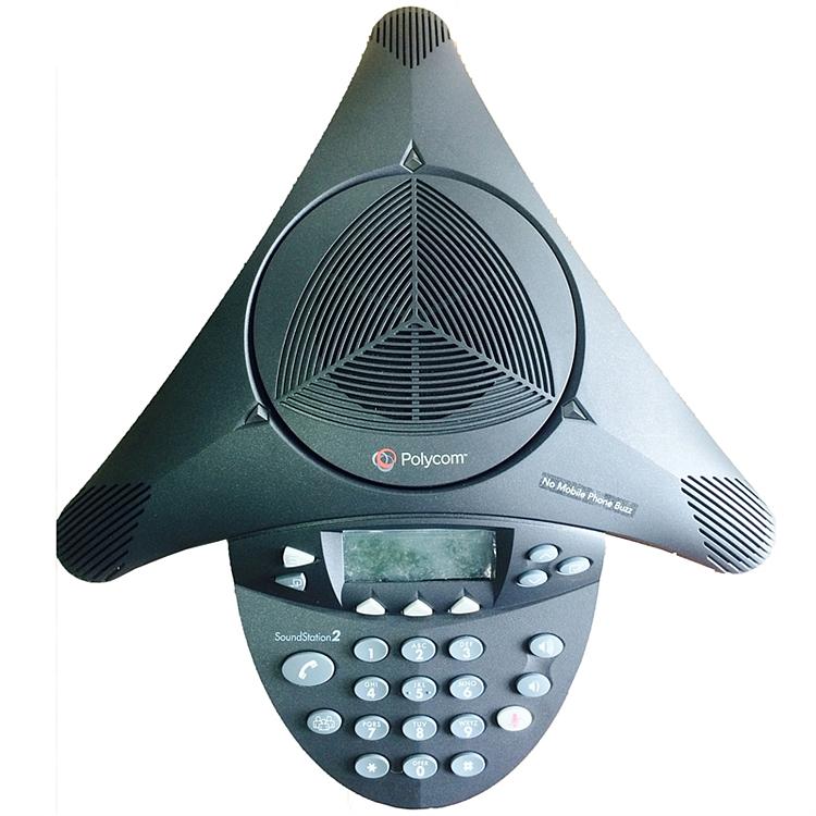 宝利通 soundstation2 标准型音频会议电话机  (单位:台) 黑色