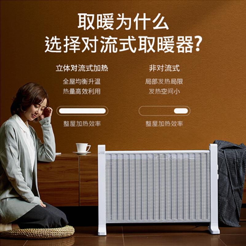 松下可壁挂电暖气 DS-ET2014CW白色1800W适用面积22㎡(台)