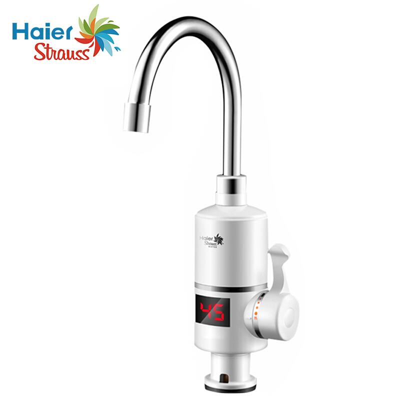 施特劳斯(Strauss)海尔 HSW-X30B6 即热式电热水器冷热水龙头电热水龙头(台)白