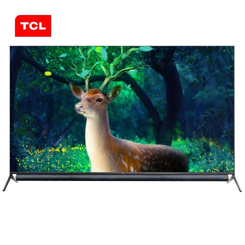TCL 75P9无边全面屏平板电视黑色75英寸4K(台)