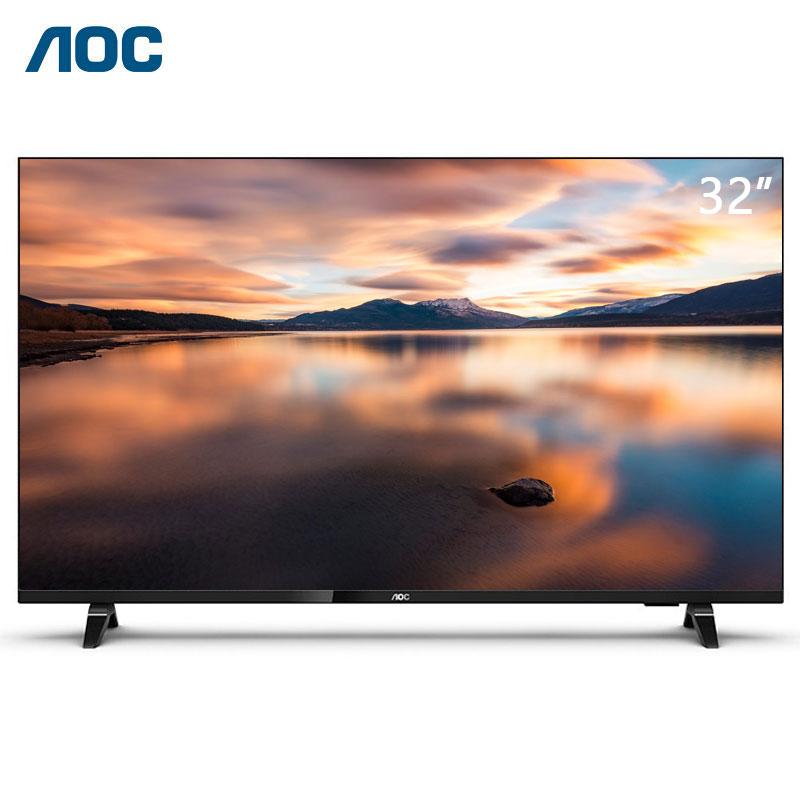 AOC 32I3液晶平板电视 32英寸智慧大屏显示器 全面屏HDR 1+8G 安防监控人工智能杜比音效电视机(台)