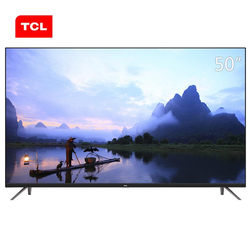 TCL 50A360 50英寸 4K超高清 平板电视机(台) 黑色