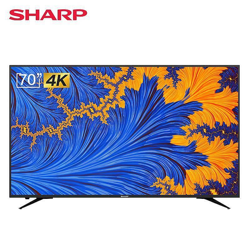 夏普(SHARP)70X6A网络液晶平板电视机70寸4K(台)