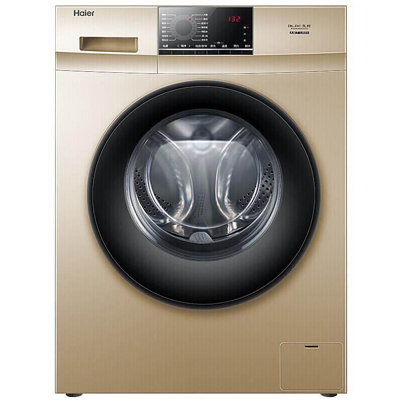 海尔(Haier)G100818BG 10公斤 变频1级 全自动滚筒洗衣机(台)香槟金