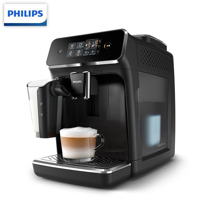 飞利浦(PHILIPS)咖啡机?意式全自动Lattego家用现磨咖啡机?欧洲原装进口?一键卡布奇诺自带奶壶?EP2131/62(台)