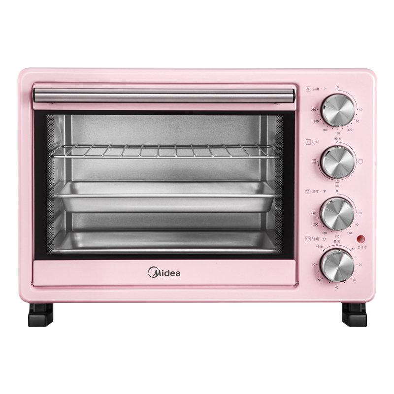 美的(Midea)PT25A0 25L 上下独立控温烤箱(台)粉色