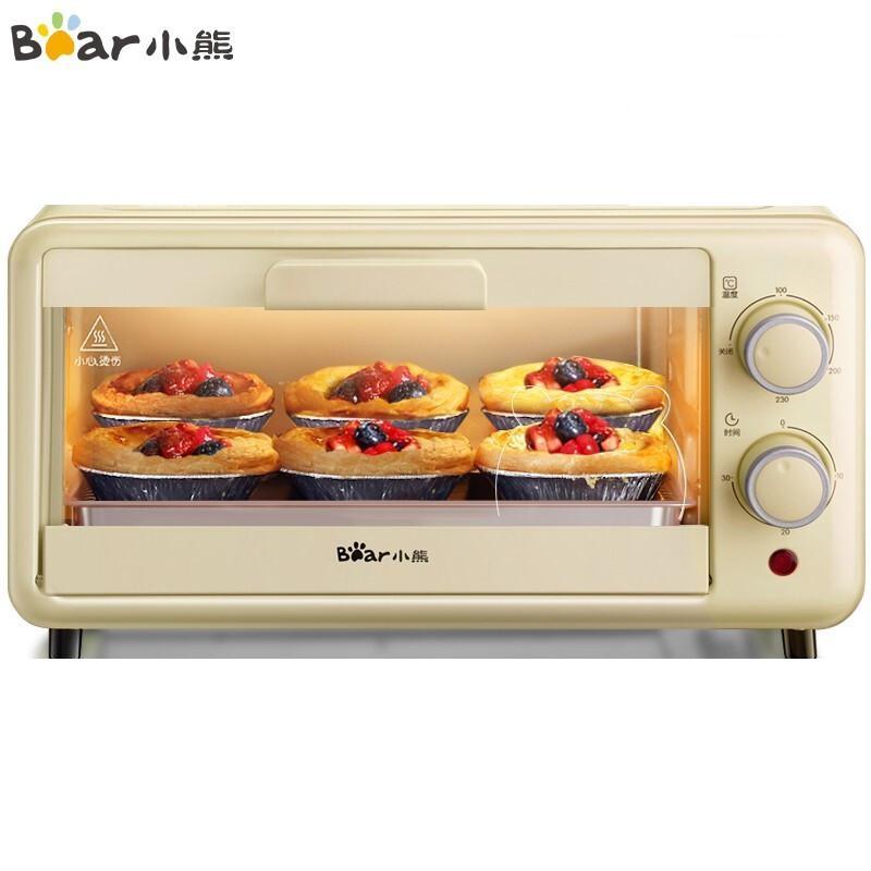 小熊 DKX-D11H5 家用迷你小烤箱 11L小容量多功能 双层烤位S型发热管定时控温(台)