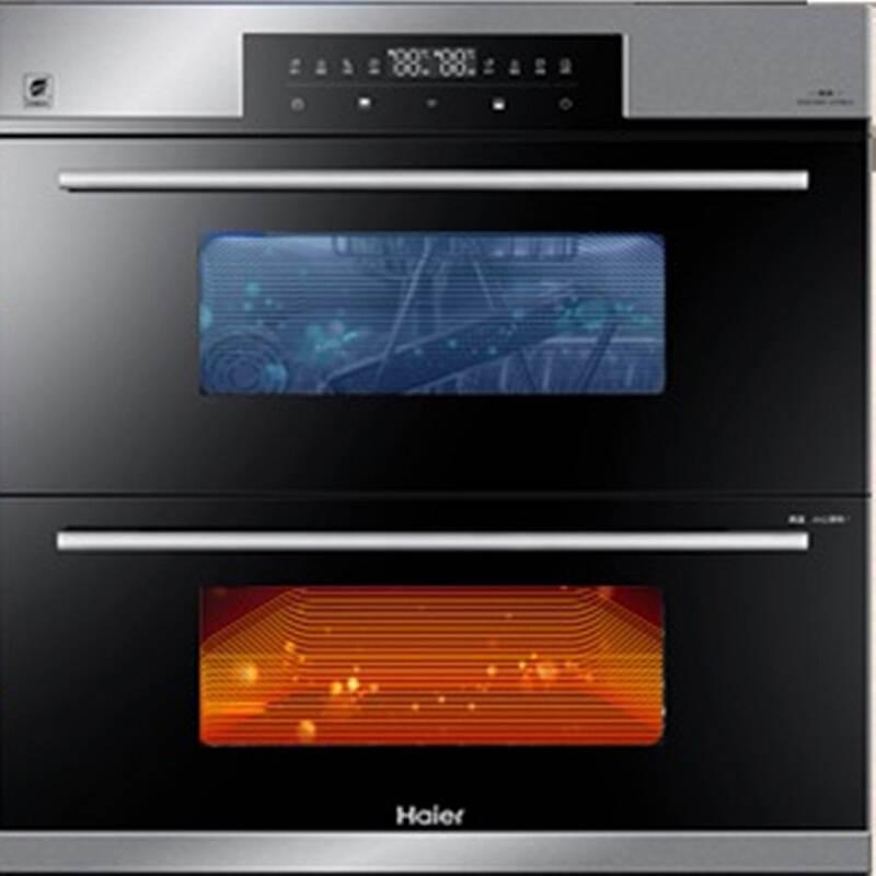 海尔(Haier)ZQD100F-H708U1 100L 二星级 紫外线 光波巴氏家用嵌入式消毒柜(台)黑色