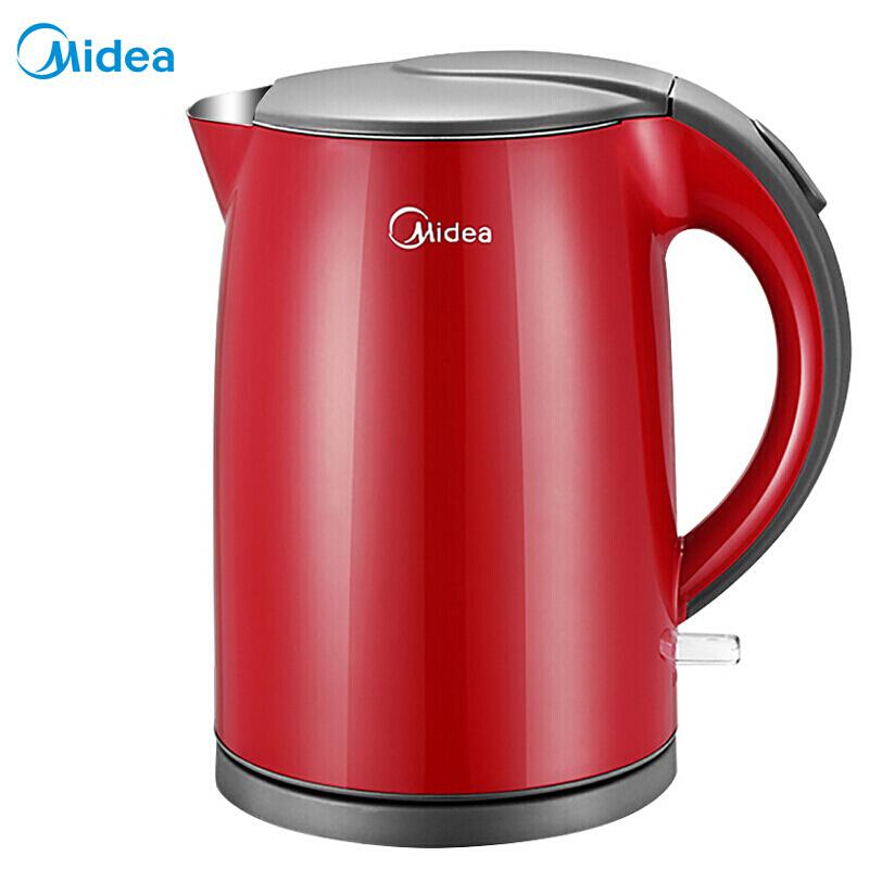 美的(Midea)WH415E2g 1.5L 不锈钢电热水壶(台)红色