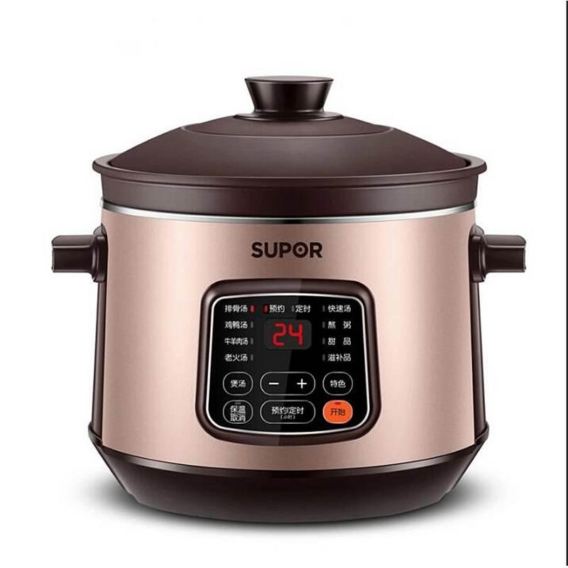 苏泊尔(SUPOR)DG40YC11-28 4L 紫砂炖肉煲汤煮粥养生中华炽陶 电炖锅(台)金棕色