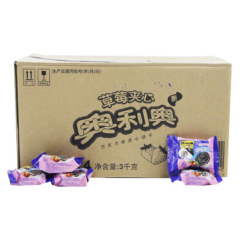奥利奥 草莓味夹心饼干 3kg/箱 (单位:箱)