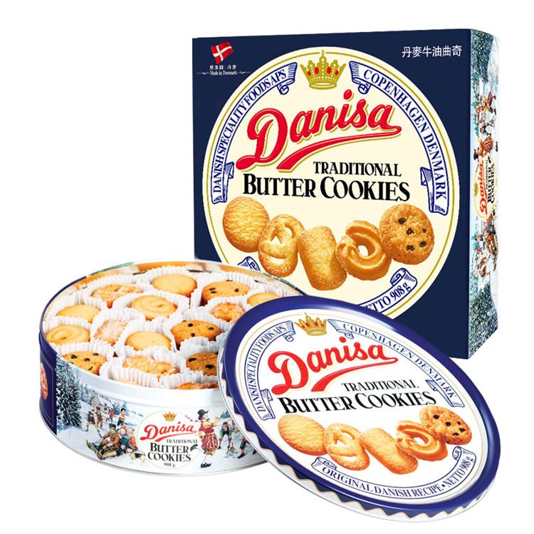 皇冠 皇冠丹麦曲奇饼干罐装 908g/罐 (单位:罐)