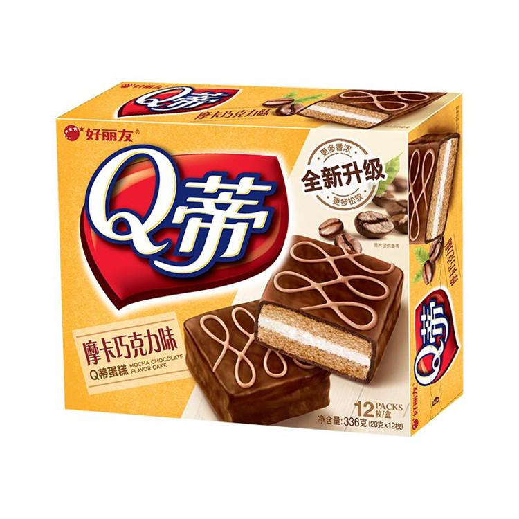 好丽友 Q蒂摩卡蛋糕巧克力味 168g*16盒/箱 (单位:箱)