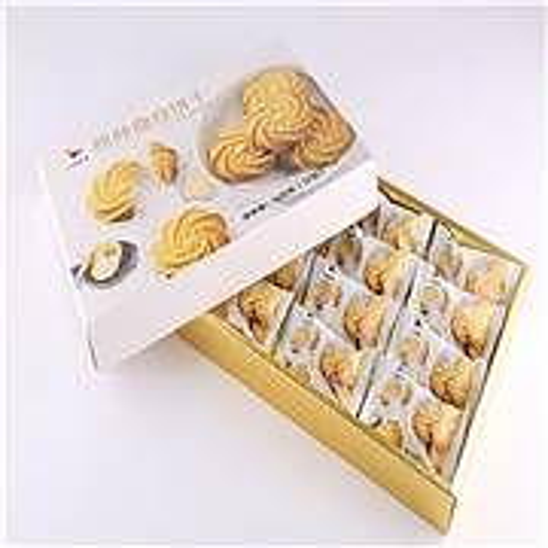 八马茶业S413原味曲奇饼干120g/盒(盒)