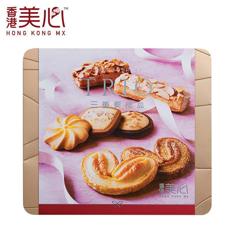 美心三重奏曲奇饼干礼盒大礼包331g(单位:盒)