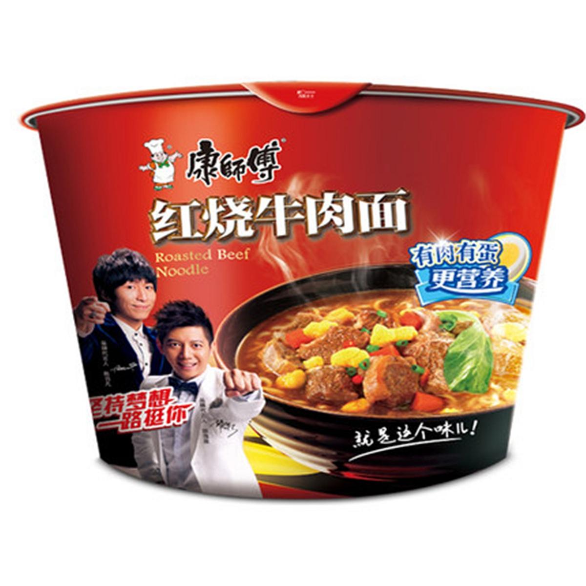 康师傅 红烧牛肉面 105g*12桶/箱 (单位:箱)