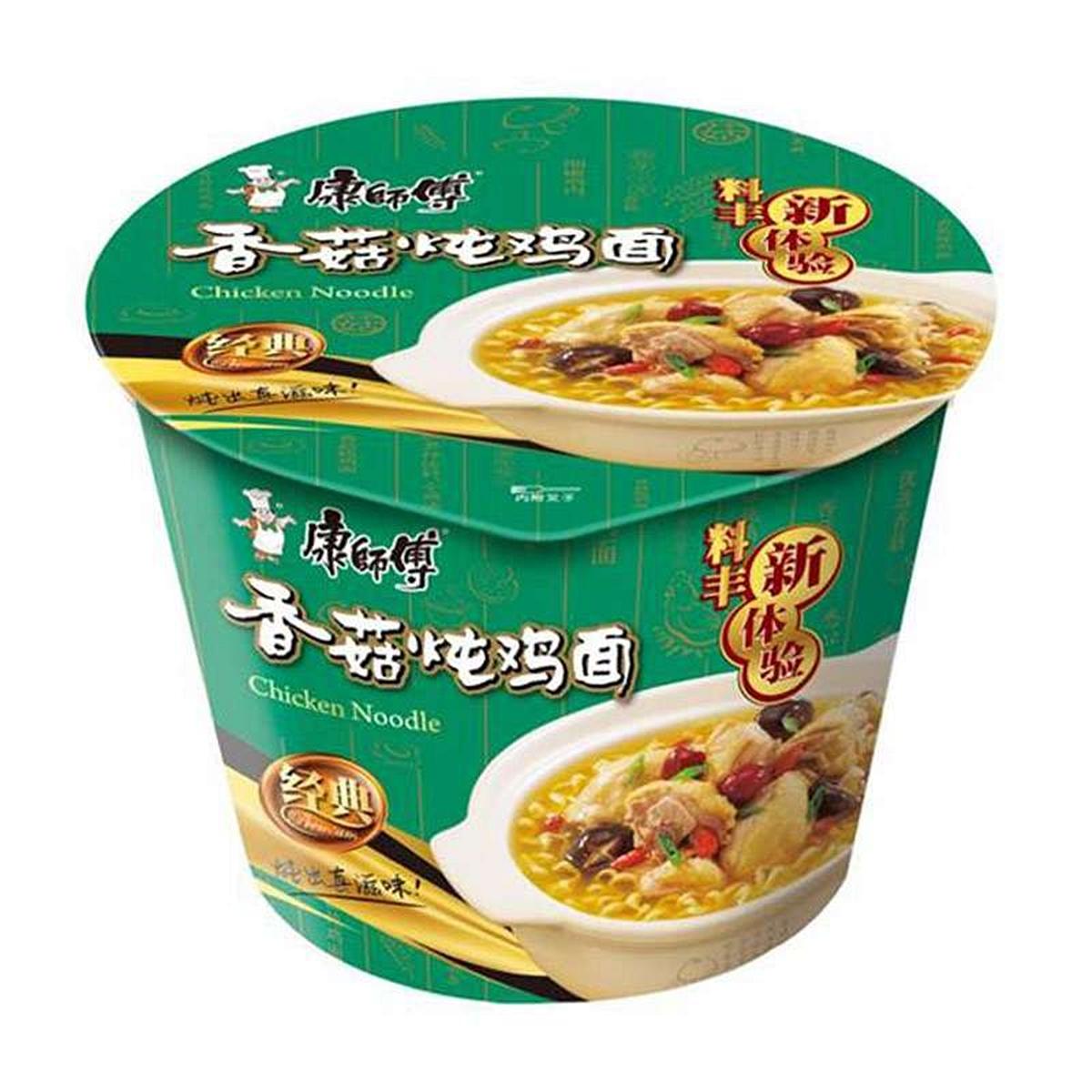康师傅香菇炖鸡面105g/桶(12桶/箱)(箱)