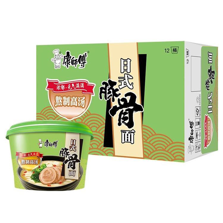 康师傅高汤系列日式豚骨桶面*12桶(单位:箱)