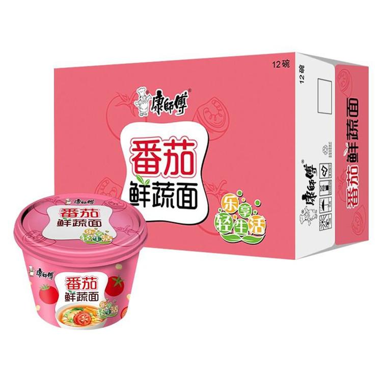 康师傅 高汤系列番茄鲜蔬桶面 109g*12桶/箱 (单位:箱)
