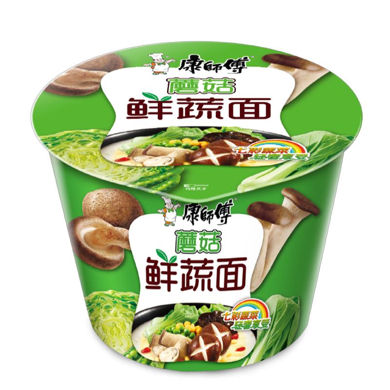 康师傅 高汤系列蘑菇鲜蔬桶面 106g*12桶/箱 (单位:箱)