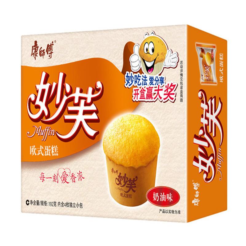 康师傅 妙芙欧式蛋糕奶油口味 4枚*12盒/箱 (单位:箱)