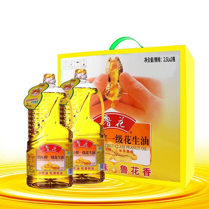 鲁花 5S压榨花生油 2.5L*2瓶/盒 (单位:盒)
