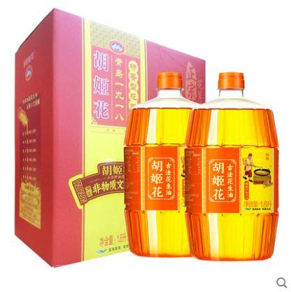 胡姬花特香型花生油1.8L*2礼盒装(单位:盒)