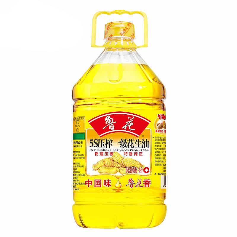 鲁花5S压榨一级花生油4L/瓶(瓶)